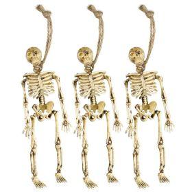 Διακοσμητικοί Αποκριάτικοι Σκελετό 15cm ,Σετ 3 Τεμαχίων