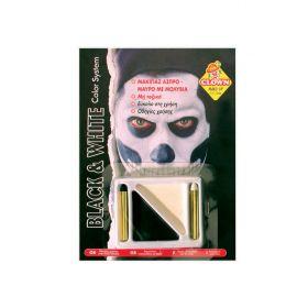 Αποκριάτικο Μακιγιάζ Με Μολύβια Λευκό - Μάυρο
