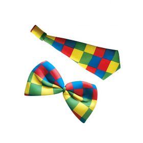 Carnival Clown Set (Tie And Bow)