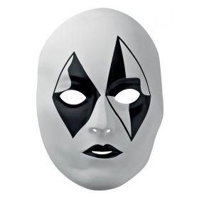 Ασπρόμαυρη Αποκριάτικη Μάσκα Προσώπου
