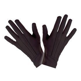 Μάυρα Κοντά Αποκριάτικα Γάντια Θεάτρου 23cm