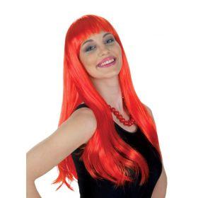 Κόκκινη Αποκριάτικη Περούκα Λόλα (24'')