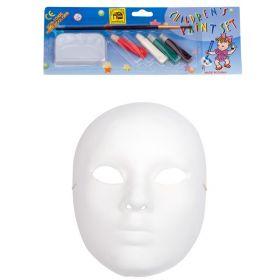 Λευκή Αποκριάτικη Μάσκα Προσώπου Με Χρώματα