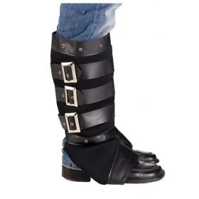 EPIKALYPTIKES PUNK BOOTS WITH BUCKLES