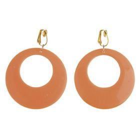 Πορτοκαλί Αποκριάτικα Σκουλαρίκια Χίπισσας