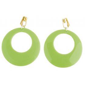 Πράσινο Αποκριάτικα Σκουλαρίκια Χίπισσας