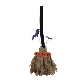 Halloween Broom Witch With Sound And Movement 65cm