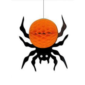 Κρεμαστή Αποκριάτικη Γιρλάντα Διακόσμησης Αράχνη 25cm