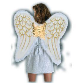 Χρυσά Αποκριάτικα Φτερά Πλάτης Αγγέλου Με Γκλίτερ