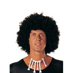 Μάυρη Αποκριάτικη Περούκα Άφρο