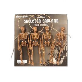 Αποκριάτικη Διακοσμητική Γιρλάντα Με Σκελετούς 152cm