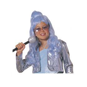 Γαλάζια Αποκριάτικη Περούκα Glamour