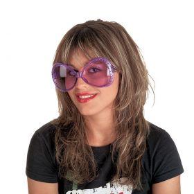 Ρόζ Αποκριάτικα Γυαλιά Με Γκλίτερ