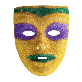 Αποκριάτικη Μάσκα Προσώπου Με Χρυσόσκονη