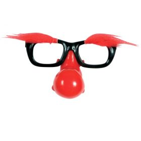 FUNNY HALLOWEEN GLASSES WITH NOSE AND EYEBROWS
