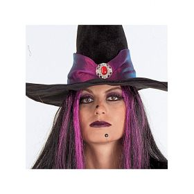 Halloween WITCH WITH OLIVE HAIR