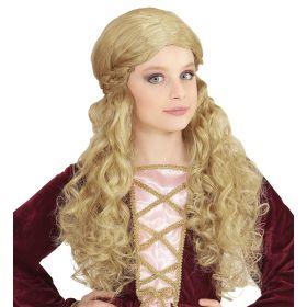 Ξανθιά Παιδική Αποκριάτικη Περούκα