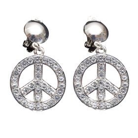 HALLOWEEN EARRINGS WITH STRASS PEACE & LOVE