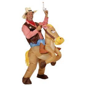 Αποκριάτικη Στολή Κάου Μπόυ Με Φουσκωτό Άλογο