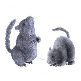 Μάυρο Αποκριάτικο Ποντίκι 14cm