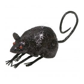 Μάυρο Αποκριάτικο Ποντίκι Με Γκλίτερ 8,5cm