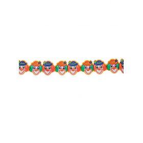 Αποκριάτικη Γιρλάντα Διακόσμησης Γελαστός Κλόουν ,3 Μέτρα