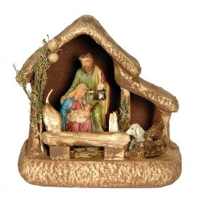 SYNTHETIC CHRISTMAS manger 25 x 20 x 25 (h) cm