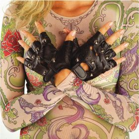 BLACK Carnival Gloves Punk 13cm