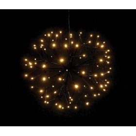 illuminated LED CHRISTMAS BALL WITH 100LED AND TRANSFORMER IP44,40cm