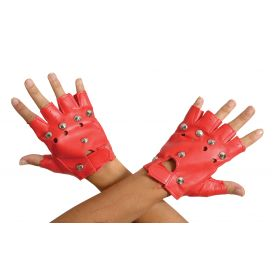 Red Christmas Gloves Punk 13cm