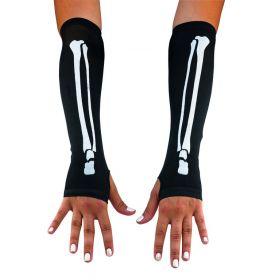 Μισά Αποκριάτικα Γάντια Σκελετός 33cm