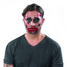 Διάφανη Αποκριάτικη Μάσκα Προσώπου Με Αίματα