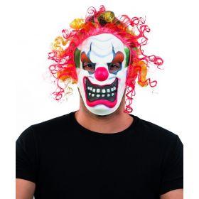 Αποκριάτικη Μάσκα Κλόουν Τρόμου Με Μαλλιά