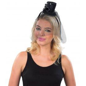 Αποκριάτικη Στέκα Καπέλο Με Βέλο