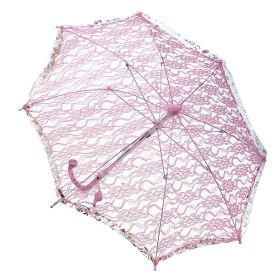 Halloween Pink Umbrella With Lace 55cm