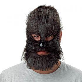 Τριχωτή Αποκριάτικη Μάσκα Προσώπου Με Μύτη