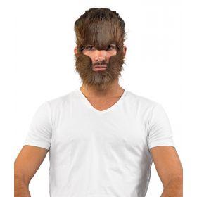 Τριχωτή Αποκριάτικη Μάσκα Προσώπου