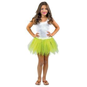 Κίτρινη Παιδική Αποκριάτικη Φούστα Με Μύτες Glitter