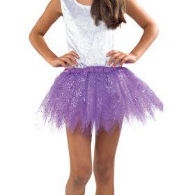 Μώβ Παιδική Αποκριάτικη Φούστα Με Μύτες Glitter