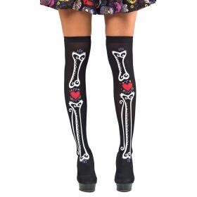 Αποκριάτικες Κάλτσες Με Κόκκαλα