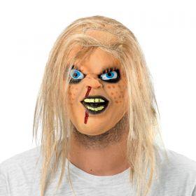 Λάτεξ Αποκριάτικη Μάσκα Κούκλας Τρόμου