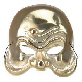 Χρυσή Αποκριάτικη Μάσκα Αρλεκίνου
