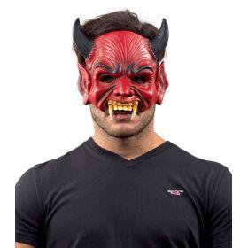 Αποκριάτικη Μάσκα Διαβόλου Με Δόντια