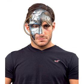Αποκριάτικη Μάσκα Steampunk Με Ελατήριο