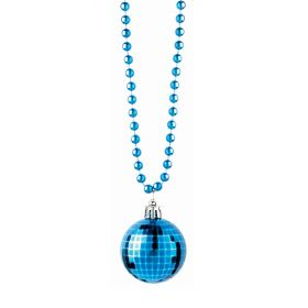 Blue Carnival Necklace disco ball