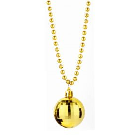 Carnival Necklace Gold disco ball