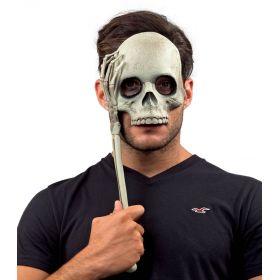 Αποκριάτικη Μάσκα Σκελετού Με Χερούλι