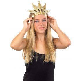 Αποκριάτικο Χρυσό Στέμμα Βασίλισσας Με Λάστιχο