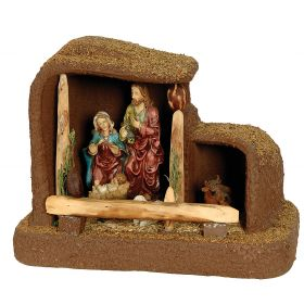 SYNTHETIC CHRISTMAS manger 40 x 23 x 30 (h) cm