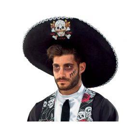 Αποκριάτικο Καπέλο Μεξικανού Με Νεκροκεφαλές
